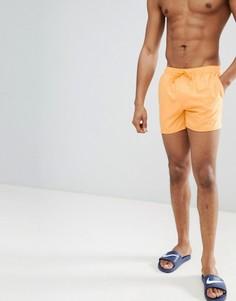 Короткие оранжевые шорты для плавания ASOS DESIGN - Оранжевый