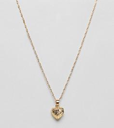 Ожерелье с позолотой 18 карат и подвеской в форме сердца Regal Rose - Золотой