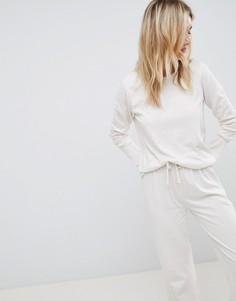 Комбинируемый пижамный лонгслив ASOS DESIGN - Бежевый