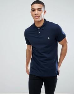 Темно-синяя футболка-поло Jack Wills - Темно-синий