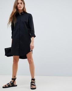 Платье-рубашка Pieces - Черный
