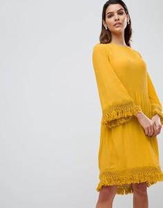Свободное платье с кисточками Y.A.S - Желтый