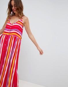 Пляжное платье макси в полоску Vero Moda - Мульти