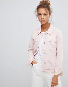 Розовая джинсовая куртка с вышивкой волка Waven - Розовый