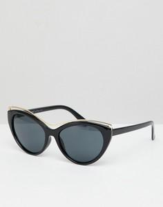 Солнцезащитные очки кошачий глаз с градиентными стеклами AJ Morgan - Черный