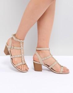 Босоножки на блочном каблуке New Look - Бежевый
