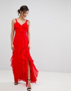 Платье макси с оборками Coast Illy - Красный