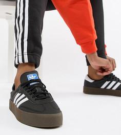 Черные кроссовки с темной резиновой подошвой adidas Originals Samba Rose - Черный