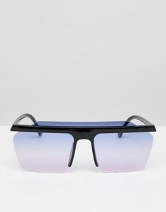 Квадратные солнцезащитные очки с эффектом омбре на стеклах 7X - Розовый