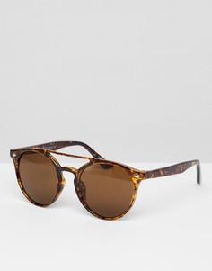 Коричневые круглые солнцезащитные очки 7x - Коричневый