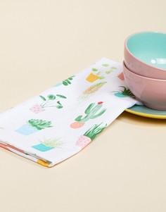 Кухонное полотенце с принтом кактуса Sass & Belle - Мульти