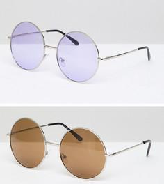 2 солнцезащитных очков с цветными стеклами 7X - Мульти