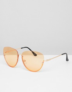 Солнцезащитные очки-авиаторы с цветными стеклами Jeepers Peepers - Оранжевый
