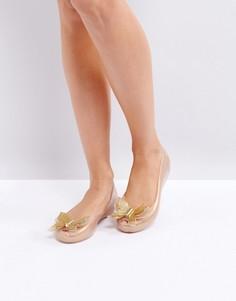 Туфли на плоской подошве с бабочкой Melissa Ultragirl - Бежевый