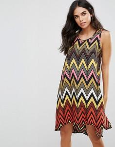 Свободное платье с асимметричным краем Brave Soul Seville - Мульти