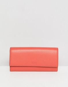 Кожаный кошелек с клапаном HUGO - Красный