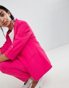 Удлиненный блейзер b.Young - Розовый