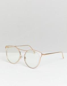 Круглые очки с прозрачными стеклами и оправой Reclaimed Vintage Inspired - Очистить