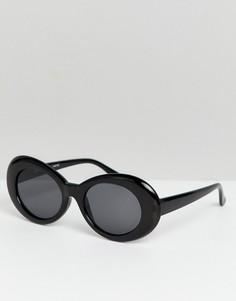 Черные круглые солнцезащитные oversize-очки Reclaimed Vintage Inspired - Черный