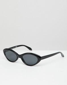 Черные солнцезащитные очки кошачий глаз Reclaimed Vintage - Черный