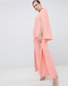 Строгие брюки с разрезами Lavish Alice - Розовый