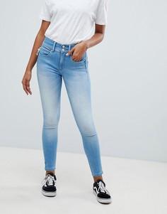 Моделирующие джинсы скинни укороченного кроя Salsa Push In Secret - Синий