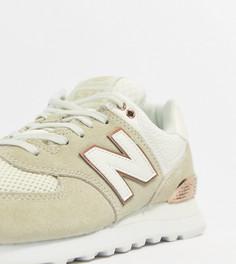 Кремовые кроссовки New Balance 574 - Бежевый