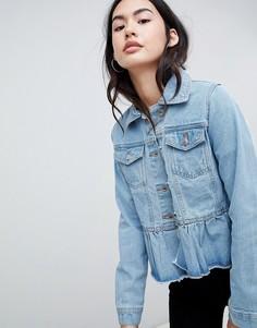 Джинсовая куртка с оборкой Brave Soul Kennedy - Синий