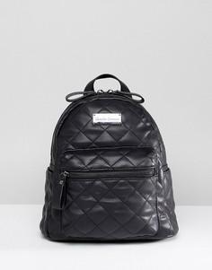 Стеганый мини-рюкзак Claudia Canova - Черный