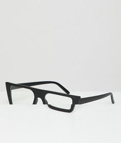 Очки с прозрачными стеклами в черной квадратной оправе AJ Morgan - Черный