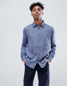Синяя льняная рубашка Jack Wills Jaywick - Синий