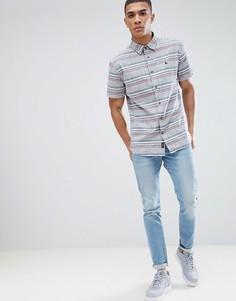 Темно-синяя рубашка в полоску из меланжевого хлопка Jack Wills Northwood - Темно-синий