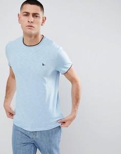 Светло-синяя футболка с кантом Jack Wills - Синий