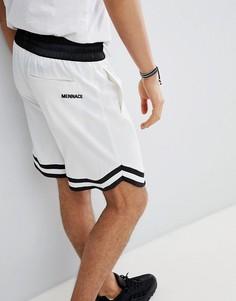 Белые сатиновые шорты Mennace - Белый