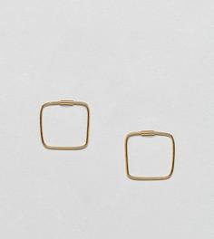 Серебряные позолоченные серьги ASOS DESIGN - Золотой