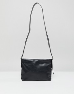 Кожаная сумка Weekday Neptune - Черный