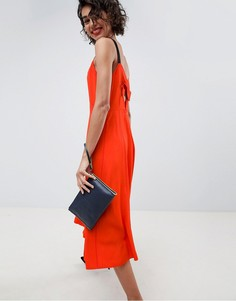 Платье миди с бретелями ASOS WHITE - Красный