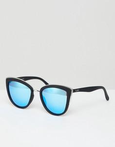 Солнцезащитные очки кошачий глаз Quay Australia My Girl - Черный