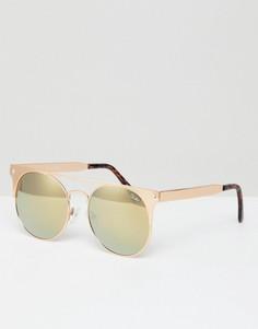 Круглые солнцезащитные очки Quay Australia In The Crowd - Золотой
