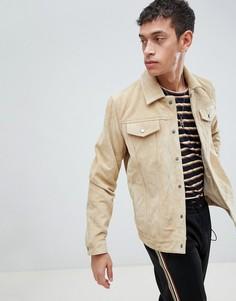 Бежевая замшевая куртка Bellfield - Бежевый