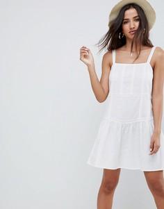 Летнее платье мини с заниженной талией ASOS DESIGN - Белый