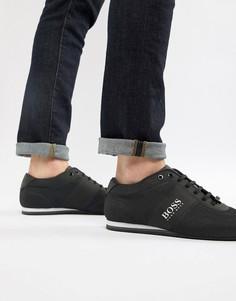 Черные сетчатые кроссовки BOSS Lighter - Черный