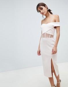 Облегающее платье с корсетом ASOS DESIGN - Розовый