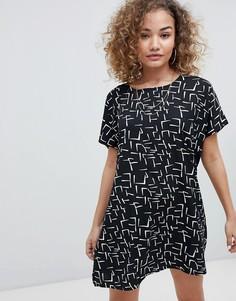 Свободное платье с принтом Noisy May - Мульти
