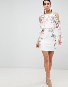 Платье с цветочным принтом Lipsy - Мульти