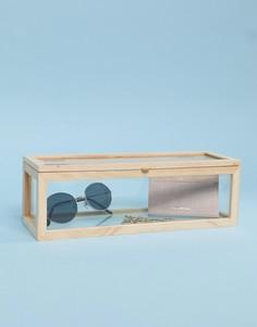 Маленькая стеклянная коробка для хранения Kikkerland - Мульти