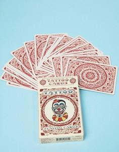 Игральные карты с принтом в стиле татуировки Kikkerland - Мульти