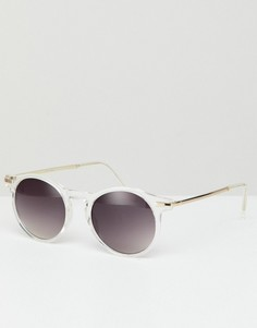 Круглые солнцезащитные очки в прозрачной оправе Jeepers Peepers - Очистить