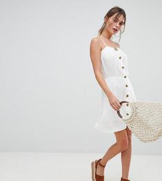 Платье мини на пуговицах Boohoo - Белый