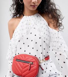 Красная стеганая сумка-кошелек на пояс Accessorize Otto - Красный